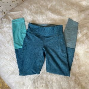 Outdoor Voices Pants - OUTDOOR VOICES 'Dipped Warmup' Colorblock Leggings